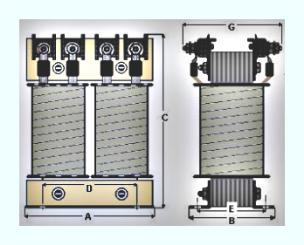 trasformatori monofase a colonne